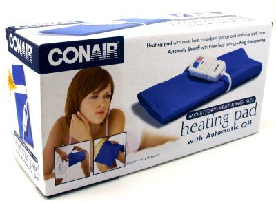 Conair HP15RB Moist King-Size Heating Pad with Automatic Off (Pack of 6) by Conair