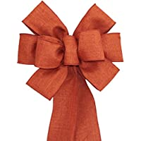 Burnt Orange Fall Wreath Bow with Color and Size Options