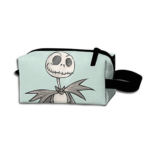 (JONHBKD Cosmetic Bags Travel Portable Makeup Pouch Skeleton Clown Jack Clutch)
