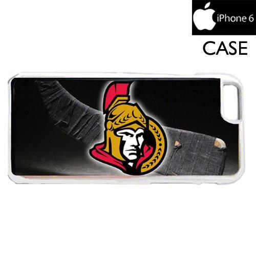 Senators Hockey iPhone 6 WHITE FRAME hard plastic cell phone Case / Cover Great Gift Idea - Ottawa Frames
