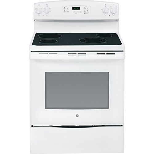 GE JBS60DKWW 30-Inch 5.3 Cu. Ft. Free-Standing Electric Range, White (Electric Freestanding Ranges Standard Clean)