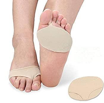 douper 1 Pair Foot Metatarsal Cushions Forefoot Bandage with Silica Gel Pads