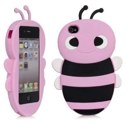 iSee Case (TM) 3D Cartoon Bumble Bee Silicone - Bumblebee Iphone 4 Case