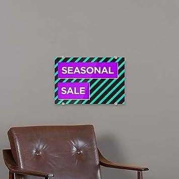 CGSignLab Modern Block Premium Brushed Aluminum Sign 5-Pack 18x12 Seasonal Sale
