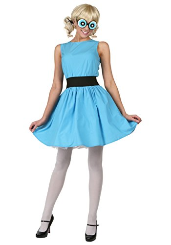 [Plus Bubbles Powerpuff Costume 1X] (Powerpuff Girls Halloween Costumes)