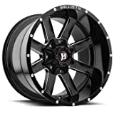 Ballistic Razorback 956290655+00GBX 956 Wheel 20x9 Gloss Black 6x5.5 (6x139.7) 0mm Offset