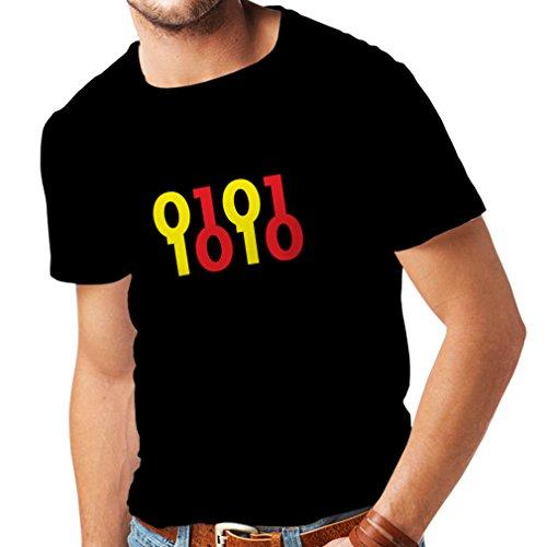 N4049 Camiseta Binary Code gift Negro Amarillo