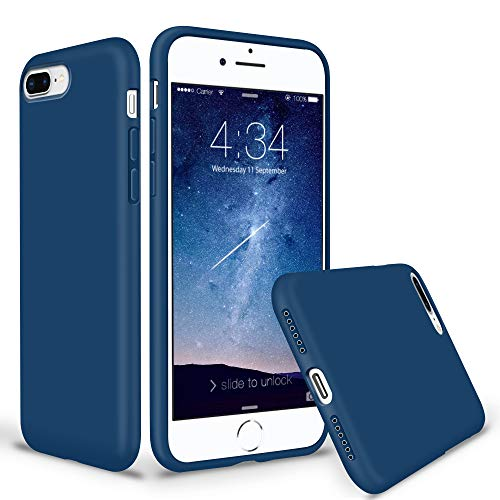 Horizon Case - SURPHY Silicone iPhone 8 Plus Case/iPhone 7 Plus Case, Soft Liquid Silicone Rubber Thicken Phone Case Cover with Microfiber Lining for Apple iPhone 7 Plus iPhone 8 Plus 5.5
