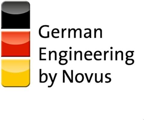 Novus 025-0577 E 225 Perforadora de papel met/álica 2,5 mm, capacidad para 25 hojas color rojo y gris