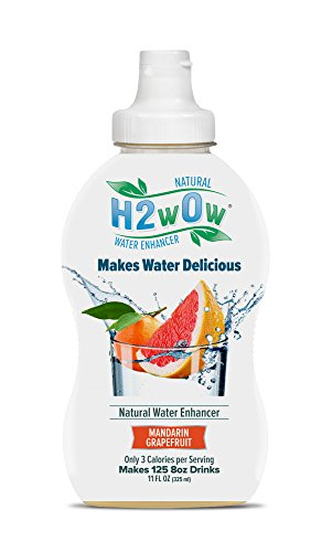 H2wOw Water Enhancer Drops – ORGANIC & Natural Extracts of Real Fruit - a Hint of Organic Stevia - Delicious Mandarin Grapefruit Flavored Water 11 oz/125 Servings