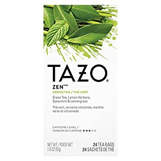TAZO Zen Green Enveloped Hot Tea Bags Non GMO, 24 count, Pack of 6