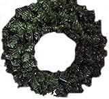 "Noma/inliten-import 60090-88 24"" Clear Light Valley Pine Wreath"