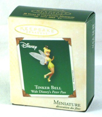Hallmark Keepsake Ornament - Tinker Bell Miniature Ornament - From Walt Disney's Peter Pan (2003) QXM5097 -