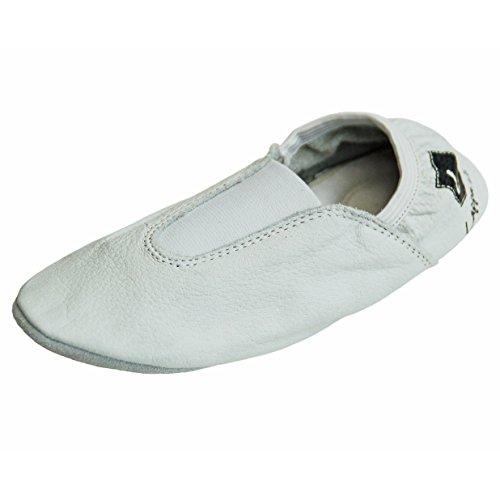 Zapatillas de gimnasia, Zapatillas de ballet, zapatillas de ballet, Zapatillas de ballet de vuelta, Zapatos de danza con Suela de goma. blanco Art. N246GG blanco