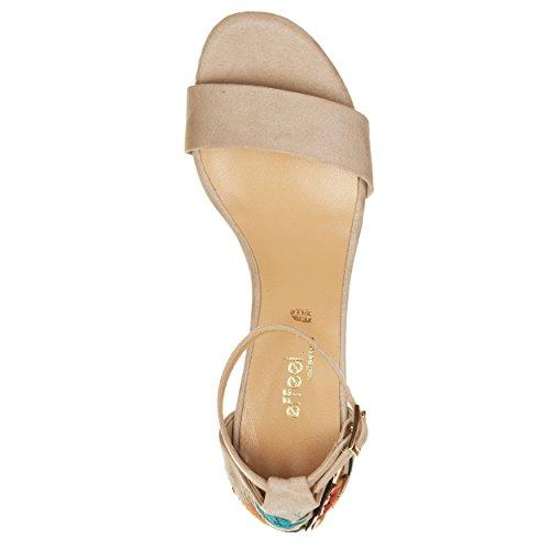 VialeScarpe Lot-9617cmbe_35 - Sandalias de vestir para mujer beige beige 35 Beige