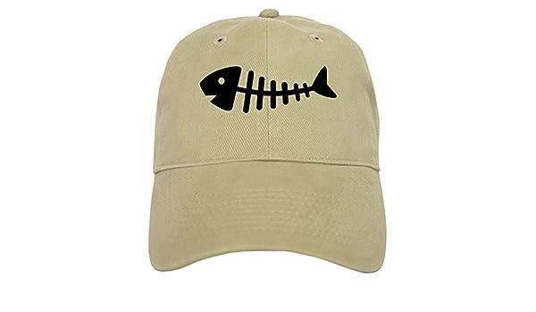 f10dd1b3 Amazon.com: CafePress - Fishbone - Baseball Cap with Adjustable Closure,  Unique Printed Baseball Hat Khaki: Clothing