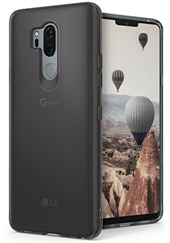 Ringke [Air] Compatible with LG G7 ThinQ Case Ultimate Ergonomic Resilient Weightless as Air, Extreme Featherweight Supple TPU Scratch Resistant Sturdy Protective Cover LG G7 Case (2018) - Smoke Black