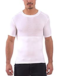 135acda06275f Men s Instaslim Shapewear Compression Sculpting Crew Neck T-Shirts
