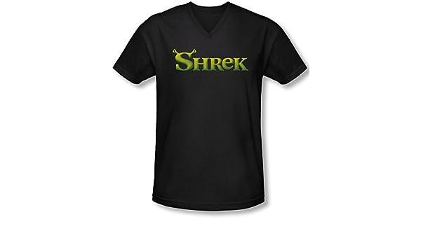 Amazon Com Shrek Mens Logo V Neck T Shirt Clothing