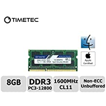 Timetec Hynix IC Apple 8GB DDR3 1600MHz PC3-12800 SODIMM Memory Upgrade For MacBook Pro 13-inch/15-inch Mid 2012, iMac 21.5-inch Late 2012/ Early/Late 2013, 27-inch Late 2012/2013, Retina 5K display Late 2014/ Mid 2015, Mac Mini Late 2012/Server (8G)