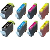 8-Pack Ink w/ Chip for PGI-5BK CLI-8 Canon Pixma iP3300 iP3500 MP510 MX700, Office Central