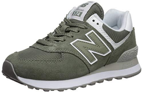 New Balance Women's 574v2 Sneaker, Mineral Green/White, 7.5 D US