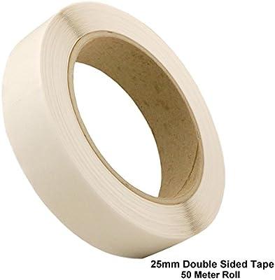 Doble cara (25 mm, Transparente Sellotape Resistente Permanente de rollos de cinta adhesiva (50 m) Pack Of 96: Amazon.es: Oficina y papelería