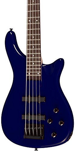 Rogue LX205B 5-String Series III Electric Bass Guitar Metallic Blue by Rogue