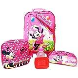 Kit Mochila Infantil Minnie Mouse Tam G Rodinhas