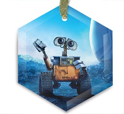 Movie Poster 49 - Wall E Christmas Ornament & Sun Catcher by HA Homes