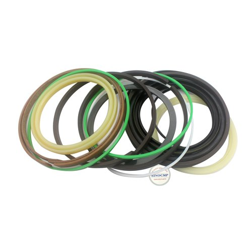 SK250-6E Bucket Cylinder Repair Seal Kit - SINOCMP Service Seal Kits for Kobelco SK250-6E Excavator Parts, 3 Month Warranty: