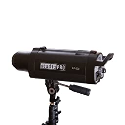 StudioPRO 600 Watt AP-600 Professional Monolight Flash Strobe Light with S-type Bowens Style Mount and 7\'\' Standard S-type Bowens Reflector, modeling lamp, for Portrait Location Photography Studio lighting