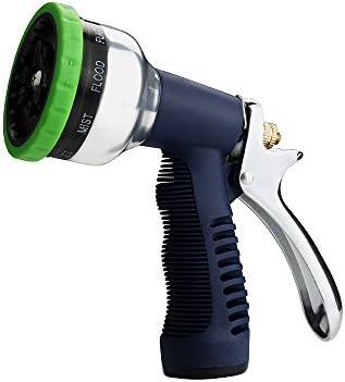 FLORA GUARD Pistola de Riego - Pistola Manguera Jardin, 9 Modos Diferentes para Limpieza, para Lavado de Autos, riego de Plantas y Ducha de Mascotas: Amazon.es: Jardín