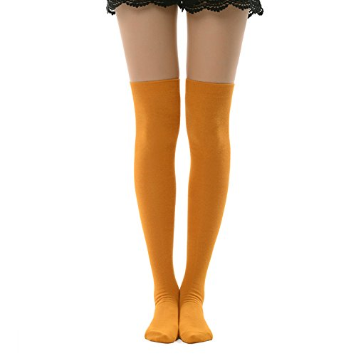 Over Knee High Socks, MK MEIKAN Boots Fashion Opaque Casual Socks Womens Gifts 1 Pair, Orange -
