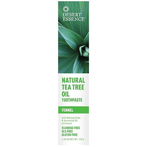(4 PACK) – Desert Essence – Tea Tree Toothpaste Fennel | 185ml | 4 PACK BUNDLE