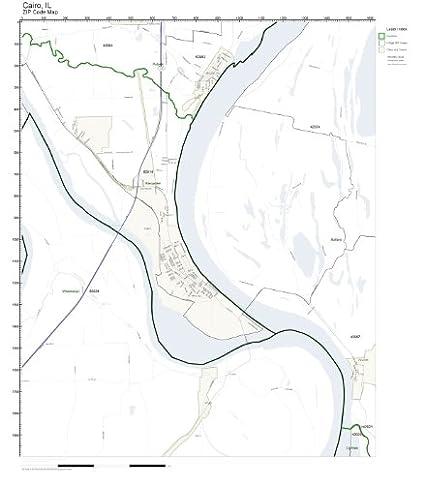 Amazon.com: ZIP Code Wall Map of Cairo, IL ZIP Code Map Not ... on
