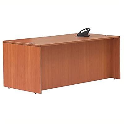 "Offices to Go Rectangular Wood Home Office Desk Shell-60"" Wide in American Mahogany - 60"" Wide in American Mahogany - Available in American Mahogany and American Cherry Strong and durable 3 mm PVC matching edges Black grommets included for wire management . - writing-desks, living-room-furniture, living-room - 41lmUKzsACL. SS400  -"