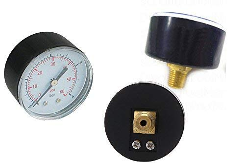 (Pressure Gauge 0-60 PSI for Pentair and Hayward pool filter back mount)