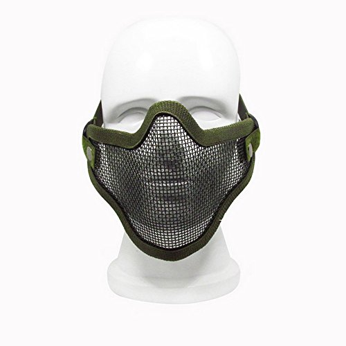 ezyoutdoor-tactical-v2-strike-steel-paintball-airsoft-wire-mesh-half-face-mask-with-hat