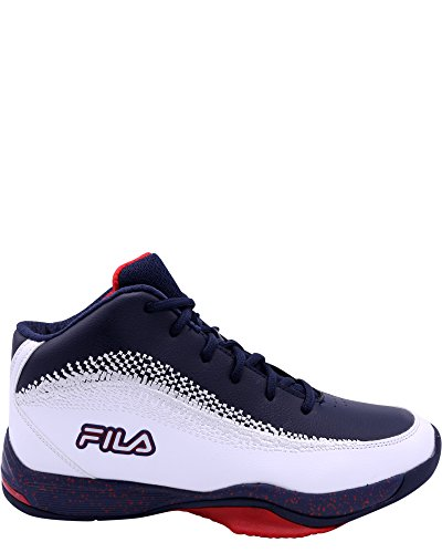 Fila Men's contingent 4 Basketball Sneaker,White/NavyRed,12