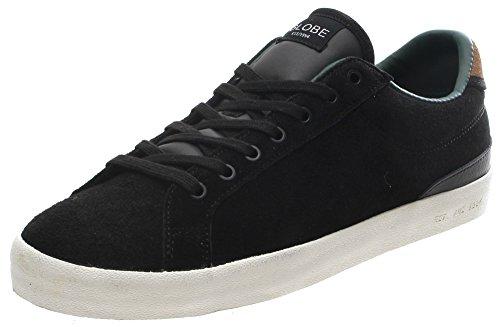 Globo Estado negro/envejecido zapatos (UK11)