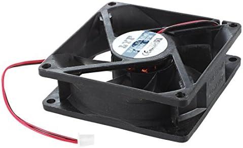 Ventilateur de refroidissement SODIAL(R)80mm x 25mm CC 24V sans brosse Logement de PC Ventilateur de refroidissement noir