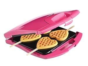 Babycakes Nonstick Waffle Maker Makes 4 Heart Waffles on Sticks