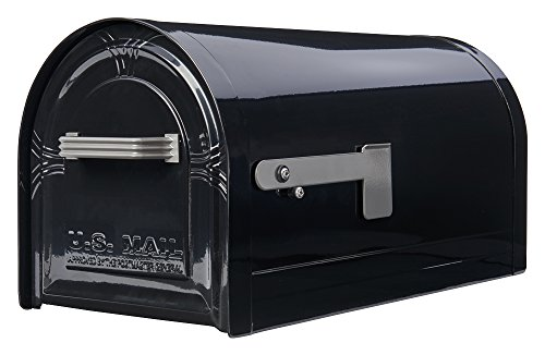 Gibraltar Mailboxes Wyngate Large Capacity Galvanized Steel Black, Post-Mount Mailbox, WM16KB01