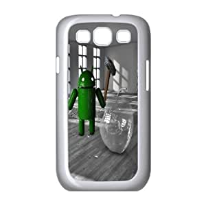 Android Smashing The Glass Apple Funny Samsung Galaxy S3 9 Cell Phone Case White yyfabc_005245