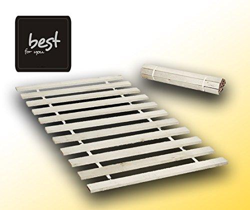 Best For You Rollrost aus 15 oder 20 massiven stabilen Holzlatten Geeignet für alle Matratzen - in 2 Grössen 90x200 cm und 140x200 cm (140x200-10KIND)