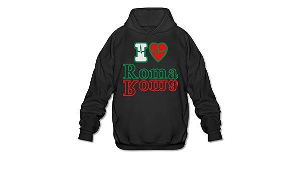 780c5faa9 Men's Long Sleeve Cotton Hoodie I LOVE ROMA Sweatshirt at Amazon Men's  Clothing store:
