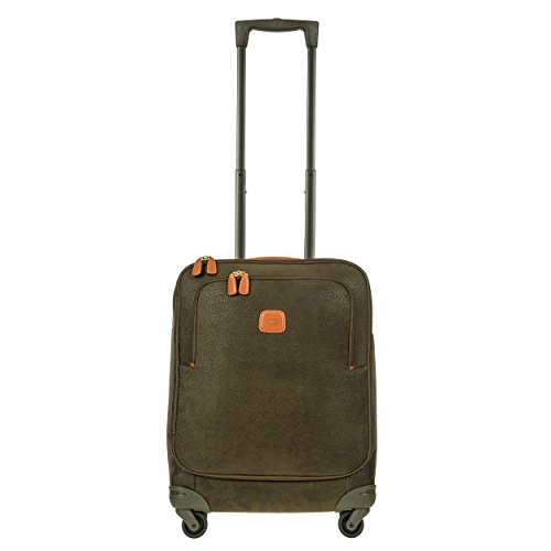 - Bric's Life 21 Inch International Spinner Carry-On Luggage, Olive