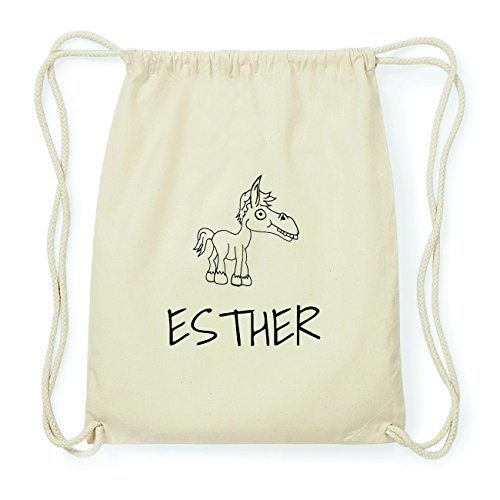 JOllipets ESTHER Hipster Turnbeutel Tasche Rucksack aus Baumwolle Design: Pferd