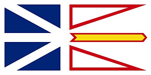magFlags XS Flag Newfoundland and Labrador | Landscape Flag | 0.375m² | 4sqft | 40x80cm | 17x34inch - 100% Made in Germany - Long Lasting Outdoor Flag - Newfoundland And Labrador Coat Of Arms